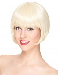 Naisten Premium-peruukki vaaleilla lyhyillä hiuksilla