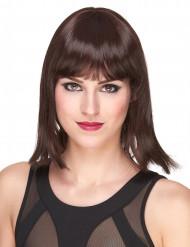 Naisten Premium-peruukki punaisenruskeilla lyhyillä hiuksilla ja otsatukalla
