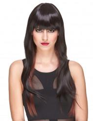 Naisten luksus peruukki erittäin pitkillä otsatukallisilla hiuksilla