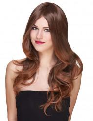 Pitkä ruskea peruukki