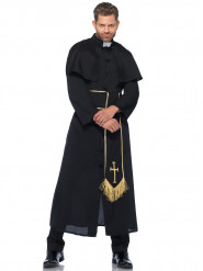 Miesten musta naamiaisasu pappi