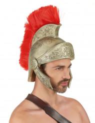 Gladiaattorikypärä punaisilla yksityiskohdilla