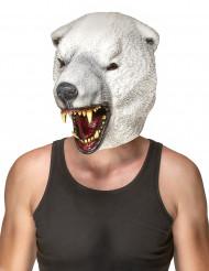 Aikuisten lateksinen naamari Jääkarhu