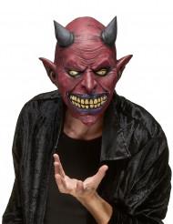 Aikuisten lateksinen Halloween naamari Demoni