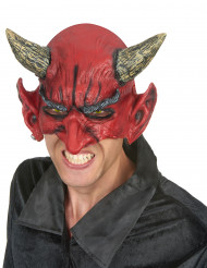 Aikuisten lateksinen puolinaamari Halloween Demoni