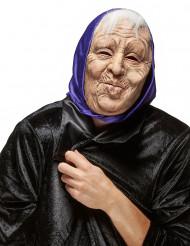 Aikuisten vanha nainen lateksinaamari