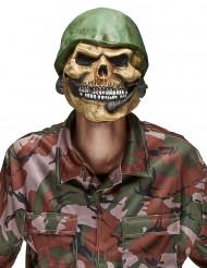 Aikuisten lateksinen Halloween naamari Pääkallo sotilas