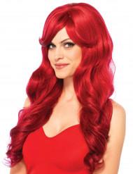 Naisten pitkä punainen peruukki