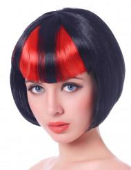 Värikäs otsotukka - Punamusta peruukki