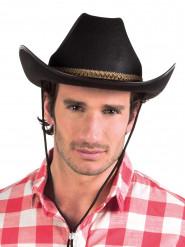 Musta cowboy-hattu aikuisille