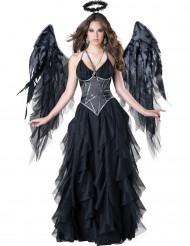 Naisten musta enkeliasu Premium