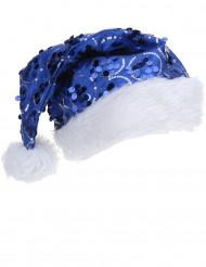 Joululakki sininen paljetti