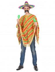 Aikuisten meksikolainen chilikuvioinen poncho