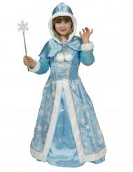 Sinisen talviprinsessan naamiaisasu lapselle