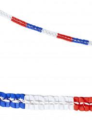 Kaksi paperista viirinauhaa Ranskan lipun väreissä - 3 m