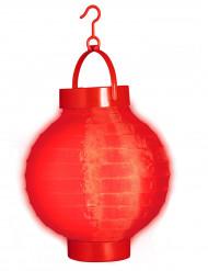 Valaistu punainen lyhty - 15 cm