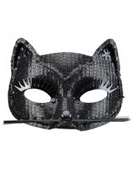 Aikuisten musta kissasilmikko paljeteilla