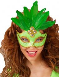 Sulkakoristeinen naisten vihreä silmikko