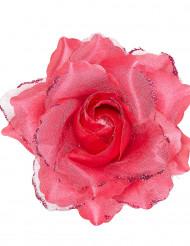 Pinkki ruusukoriste hiuksiin
