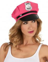 Naisten vaaleanpunainen poliisihattu