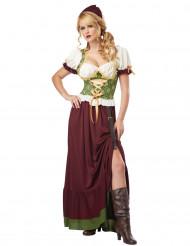 Renessanssiajan maalaisnaisen mekko naisille