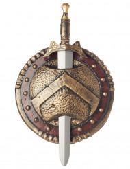 Spartalaismiekka ja -kilpi