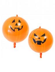 Lateksiset oranssit kurpitsailmapallot halloweeniksi 44 cm 2 kpl