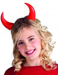 Lasten punaiset Halloween sarvet