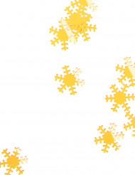 Kullanvärisiä lumihiutaleita joulupöydän tai joulukuusen koristeluun - 45 g