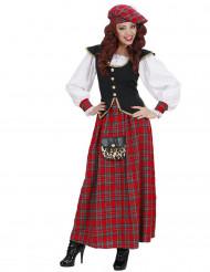 Skottilaisnaisen pitkä mekko