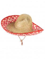 Meksikolainen punainen sombrero-hattu aikuisille
