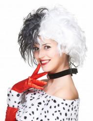 Cruella - Mustavalkoinen peruukki
