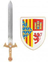 Ratsumiehen miekka ja kilpi