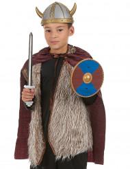 Muovinen viikinkisetti lapsille - sis. miekan, suojakilven ja viitan