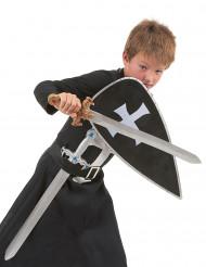 Musta ritarin asu ja välineet lapsille