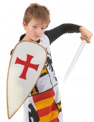 Valkoisen ritarin asu ja välineet lapsille