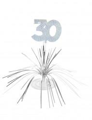 Hopeinen pöytäkoriste 30 v