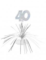 40v - Hopeinen pöytäkoriste