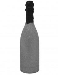 Hopeisen pullon muotoinen konfettitykki
