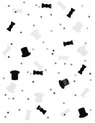 Mustia ja valkoisia konfetteja