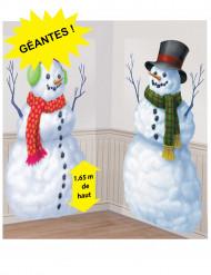 Lumiukko jouluiset seinäkoristeet