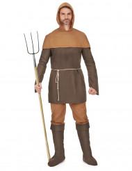 Keskiaikainen maamies -asu miehille