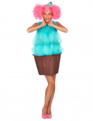 Naisten turkoosi cupcake -puku