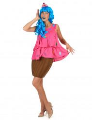 Vaaleanpunainen cupcake -puku naisille