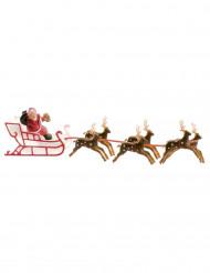 Muovinen kakunkoriste joulupukin reki 22 cm