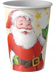 Joulupukilla kuvitetut pahvimukit 8 kpl