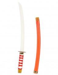 Lasten muovinen punainen Ninjan miekka