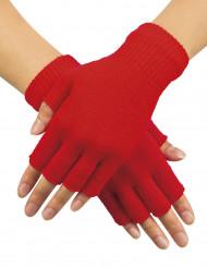 Punaiset sormettomat hansikkaat