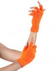 Pimeässä hohtavat oranssit puolisormikkaat aikuisille