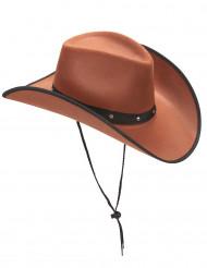 Ruskea cowboy-hattu aikuisille